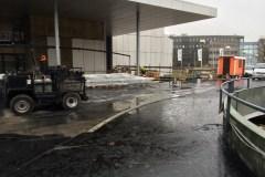 Voorbereiding van parkeerdek Utrecht