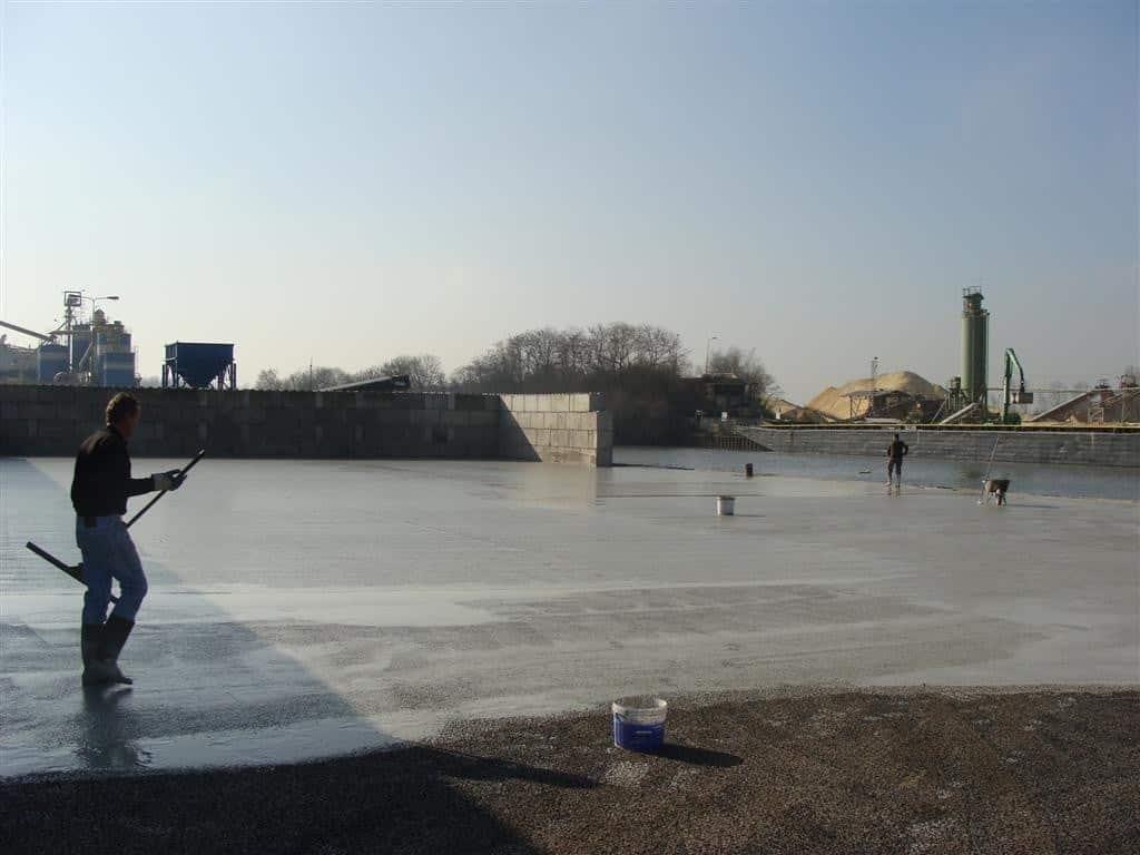 Combinatie deklaag Asfaltfabriek